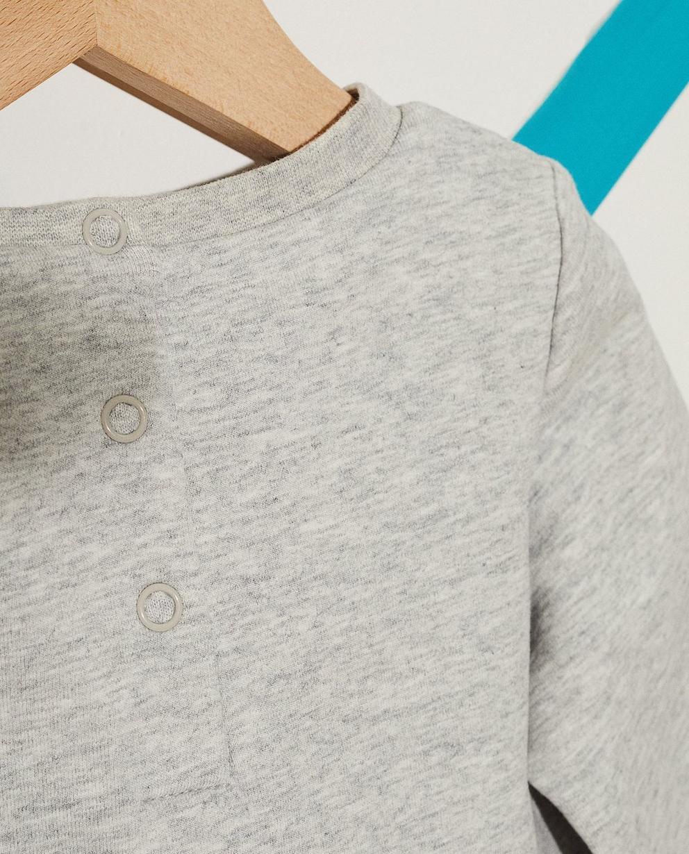 Kleider - Grau - Kleid mit Katzenprint